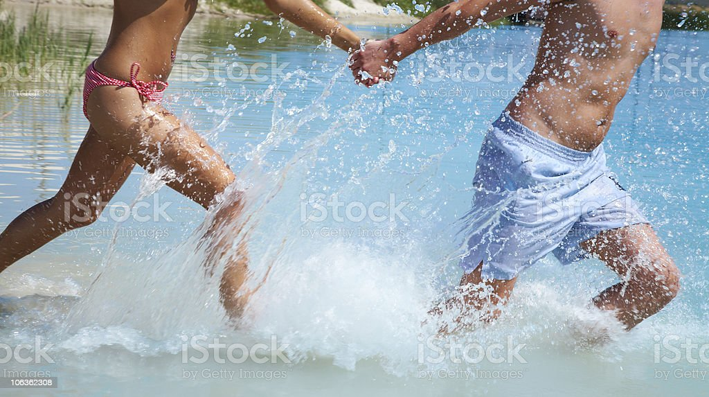 running couple royalty-free stock photo