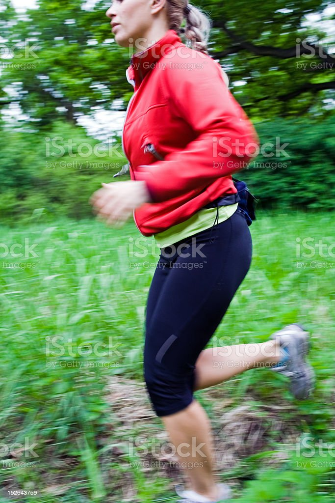 Running cross country royalty-free stock photo