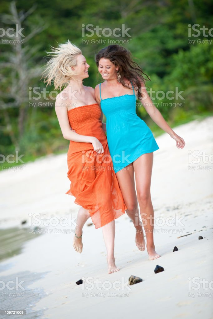 Running down Paradise Beach (XXXL) royalty-free stock photo