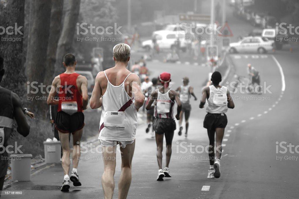 Running Downhill stock photo