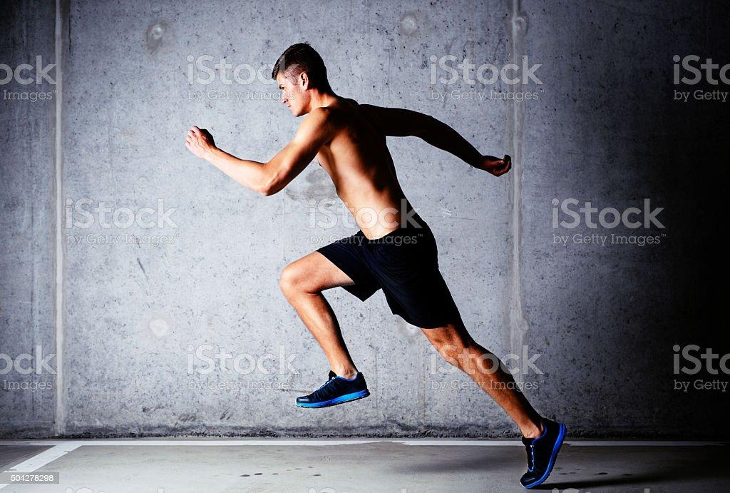 Running exercise stock photo