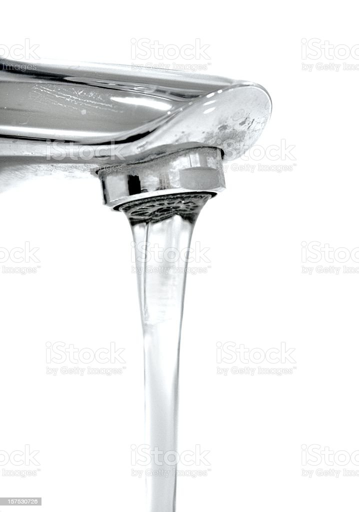 running faucet isolated on white royalty-free stock photo