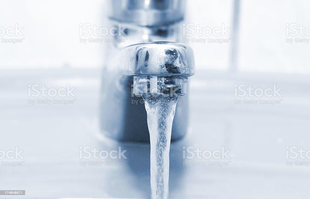 Running faucet stock photo