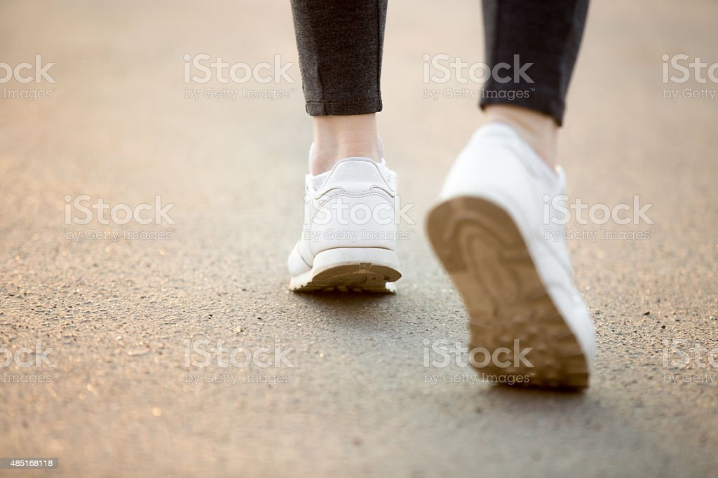Running feet stock photo