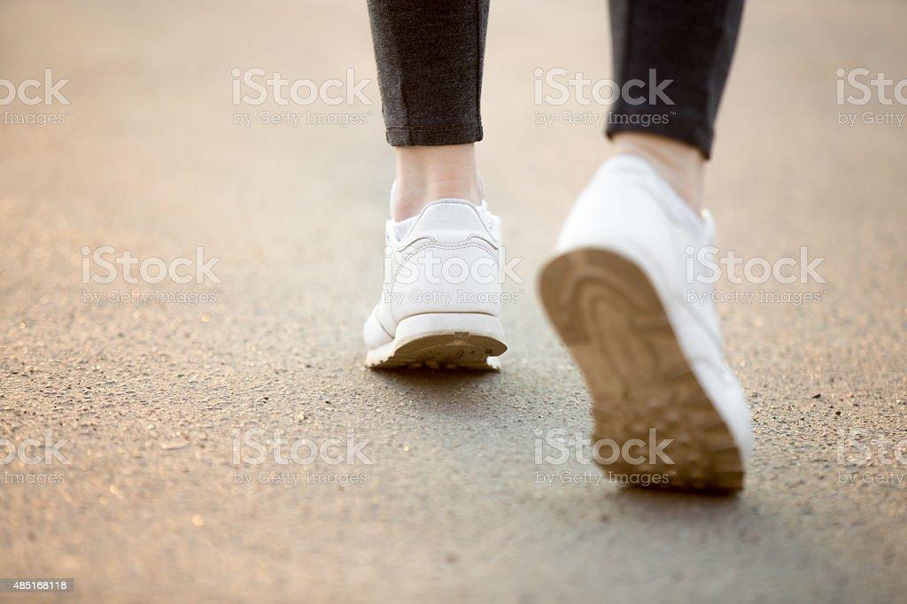 Running feet stock photo