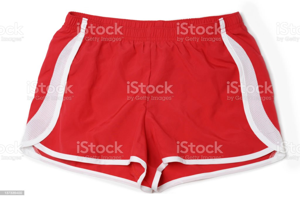 Running Fitness Athletic Wear Shorts Isolated on White Background stock photo