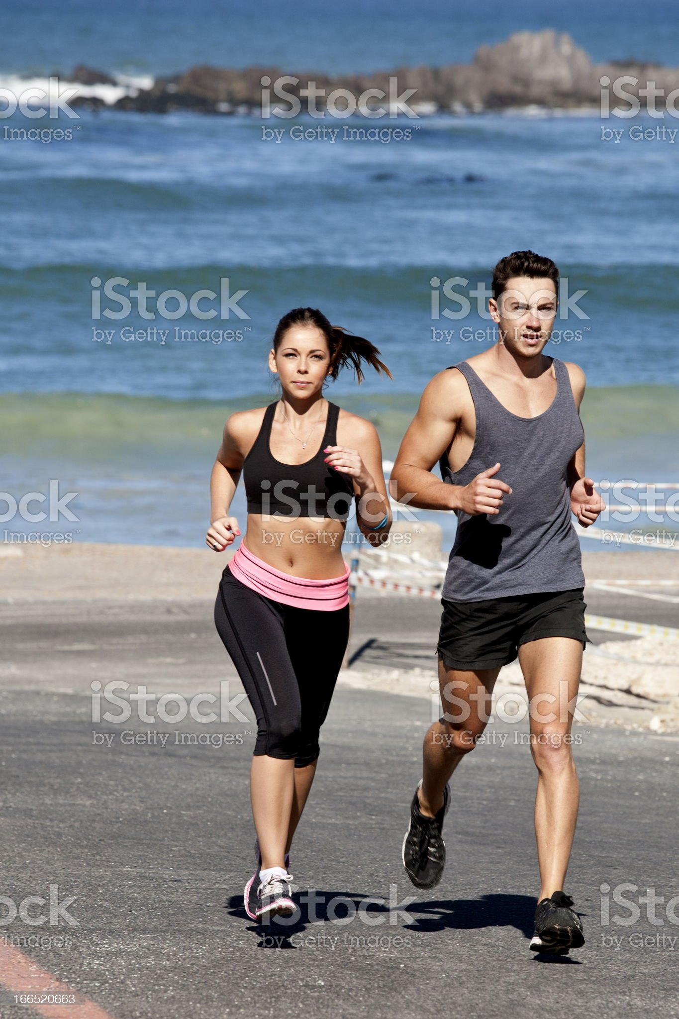 Running for fun royalty-free stock photo