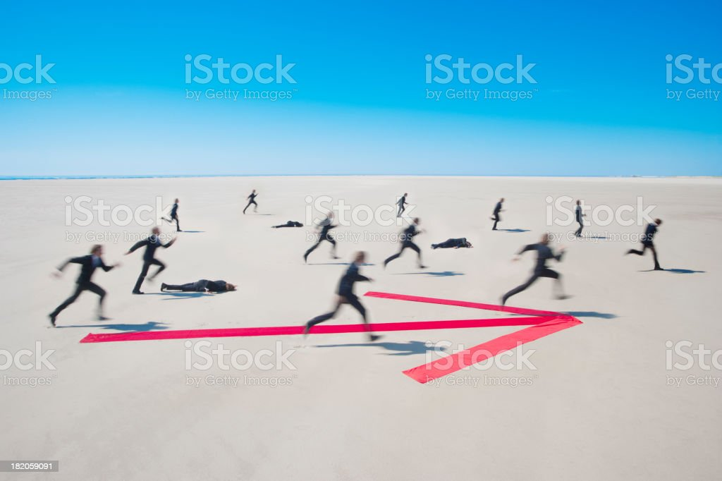 Running for success stock photo