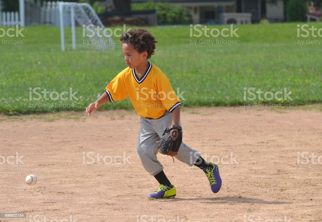 Running for the Ball stock photo
