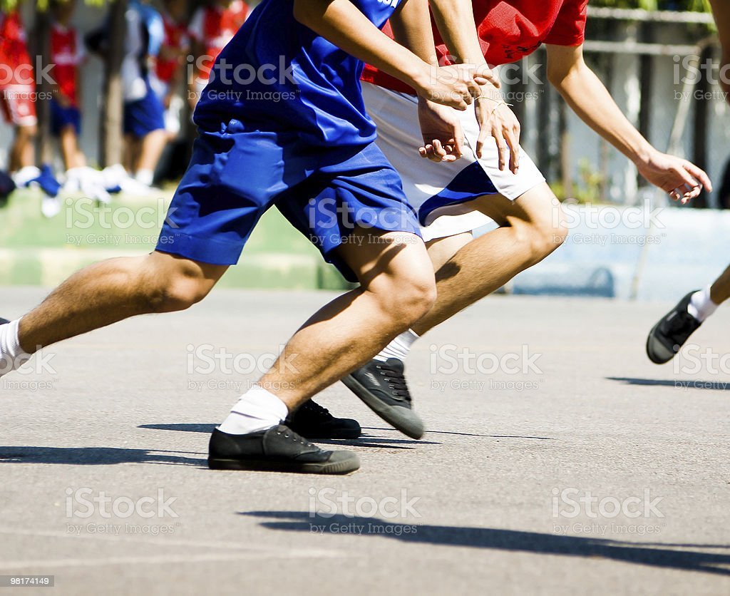 Running for the Ball royalty-free stock photo