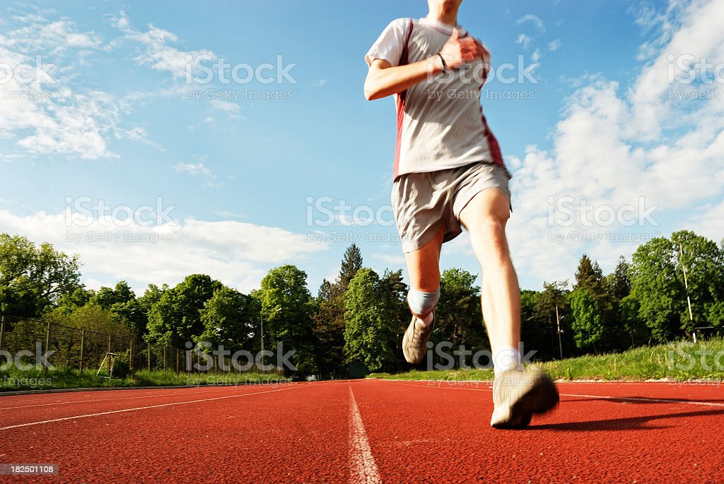 running for the first place royalty-free stock photo