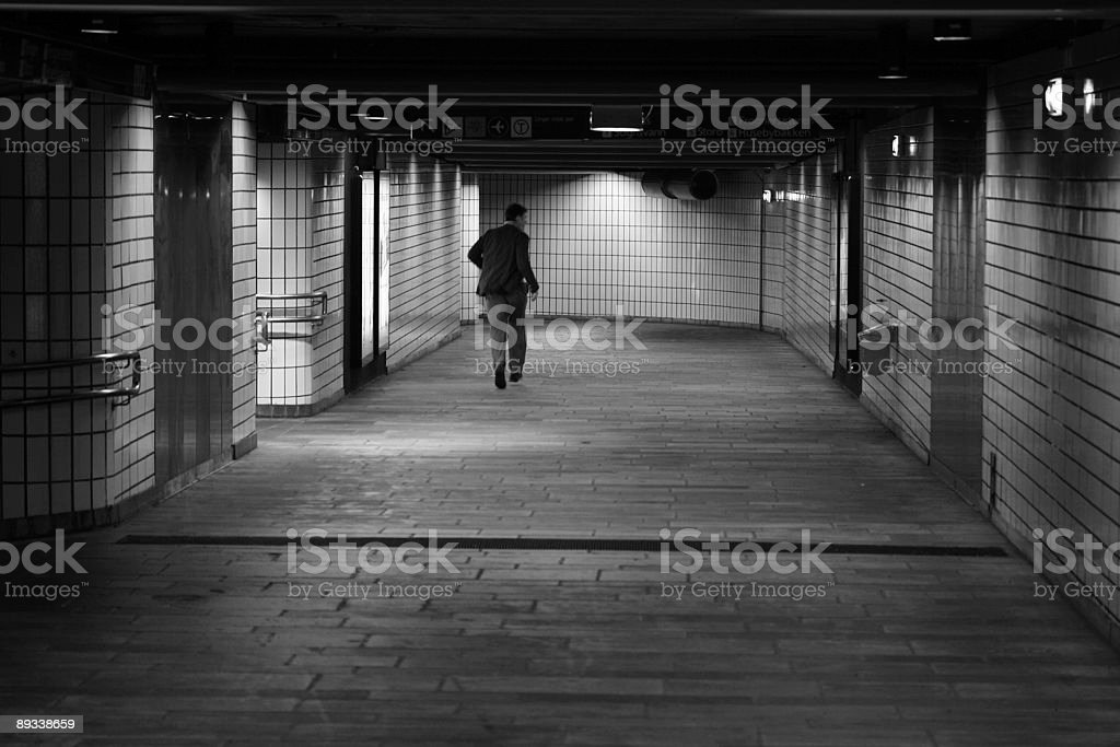 running for the last train royalty-free stock photo