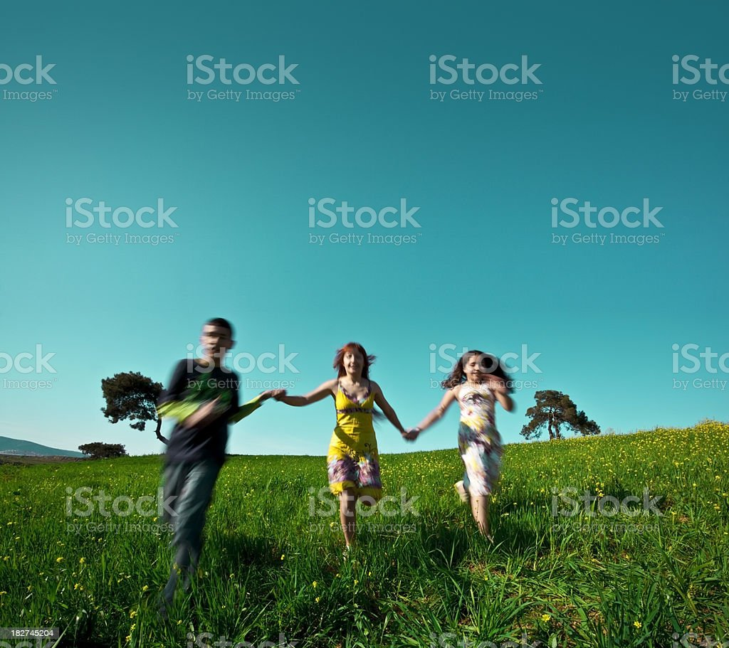 Running freedom royalty-free stock photo