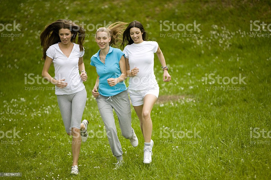 Running friends royalty-free stock photo