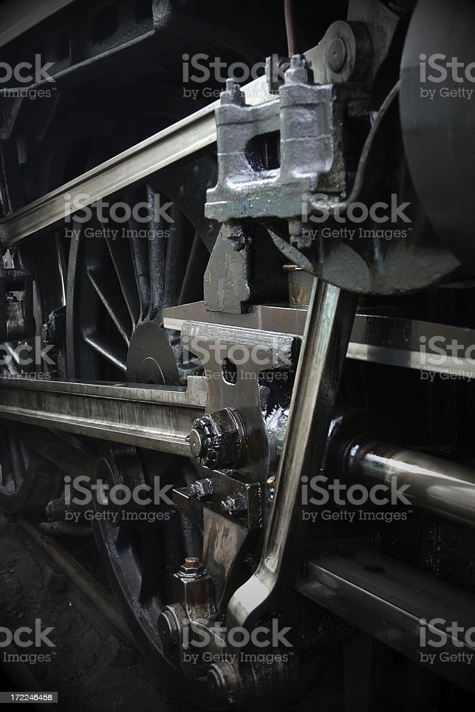Running gear of Black 5 steam engine 5212 royalty-free stock photo