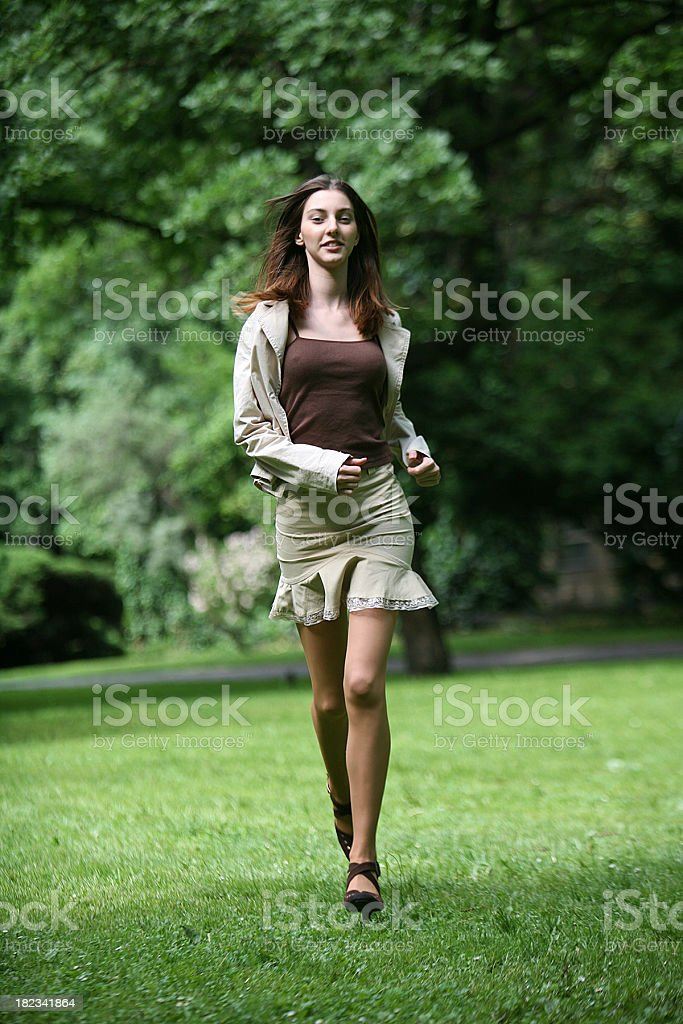 Running girl royalty-free stock photo