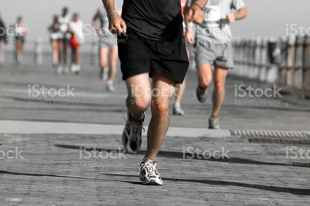 Running in Black royalty-free stock photo