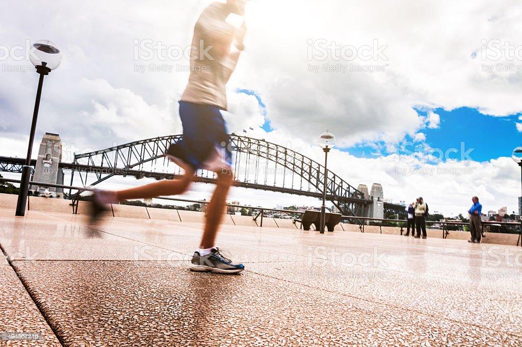 Running in Sydney, Australia stock photo
