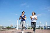 Running in the morning at Daiba
