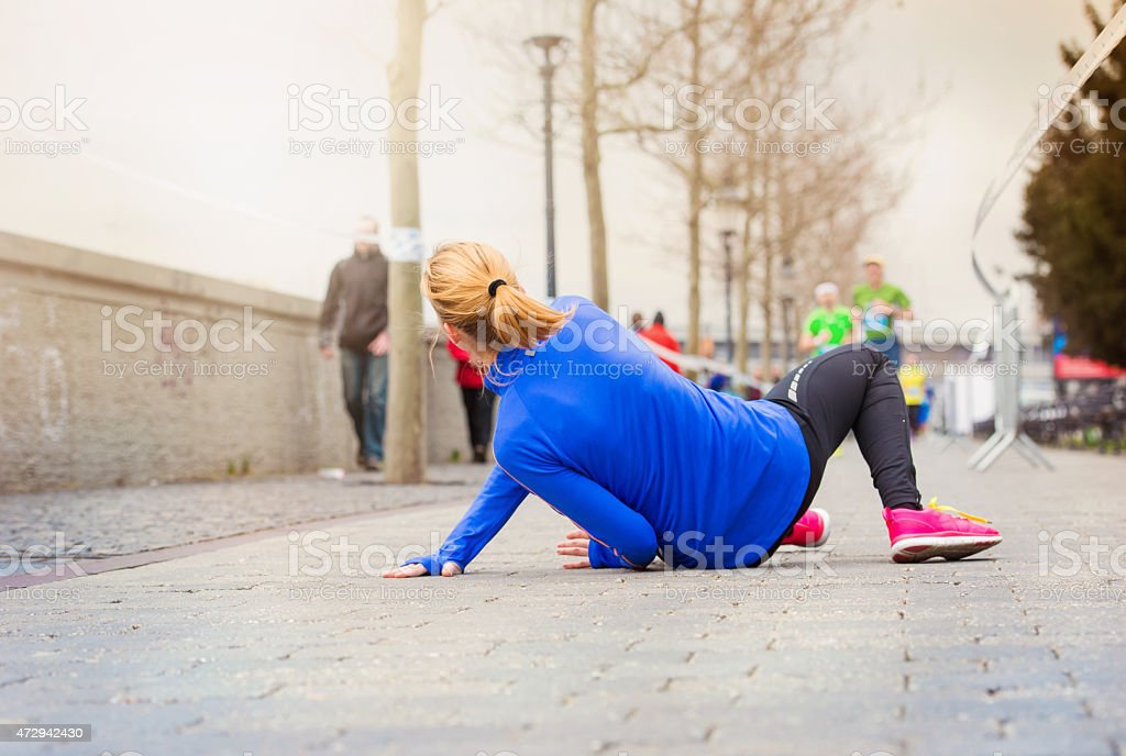 Running injury stock photo