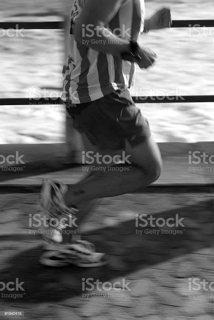 Running Is A Mind Game #64 b&w stock photo