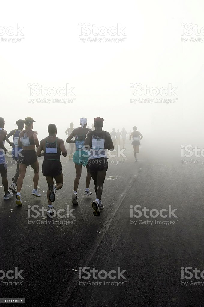 Running is A Mind Game stock photo