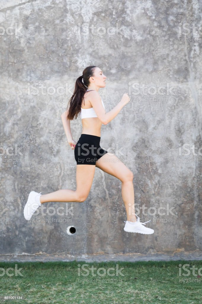 Running is a way of life stock photo