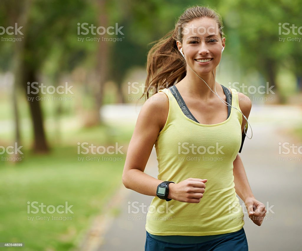 Running is great cardio stock photo