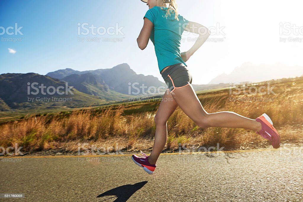 Running is quality time with me stock photo