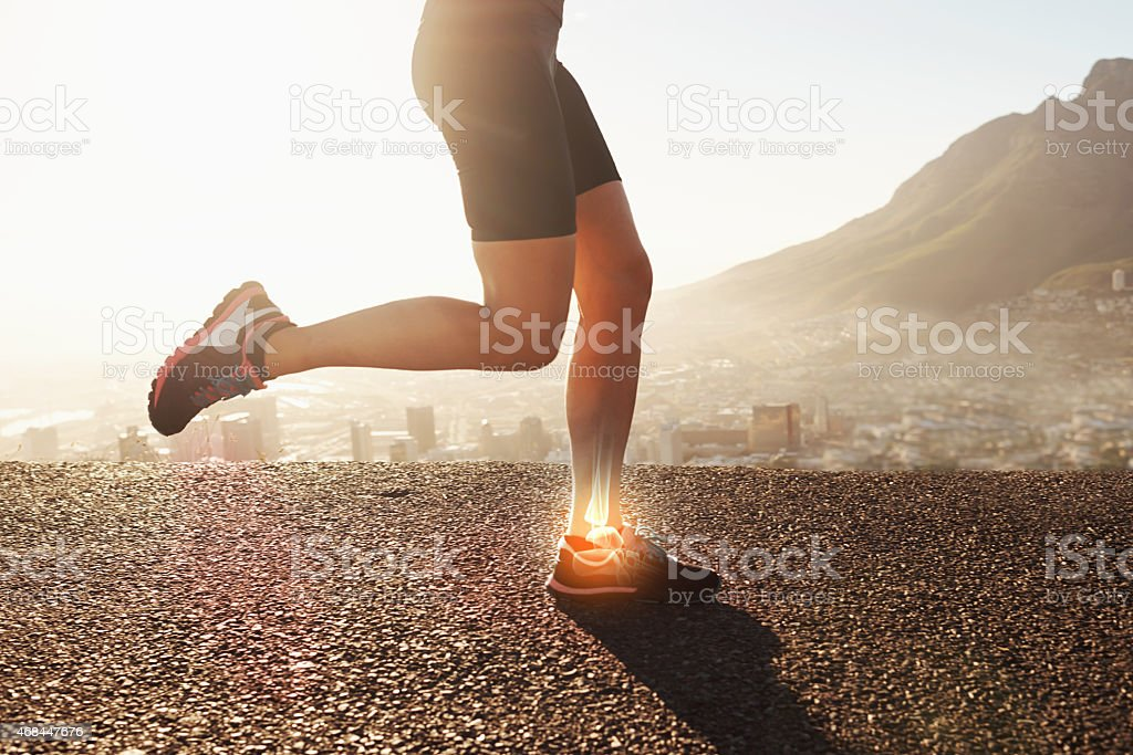 Running is taking its toll stock photo