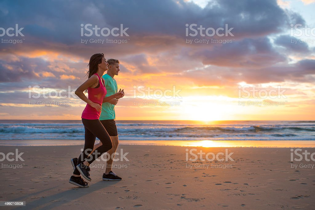 Running is their way of life stock photo