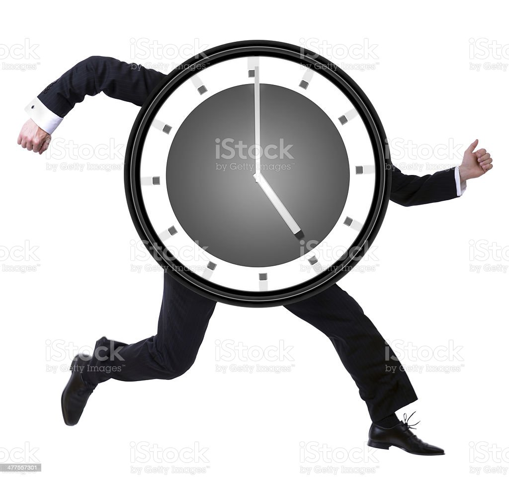 Running late? royalty-free stock photo