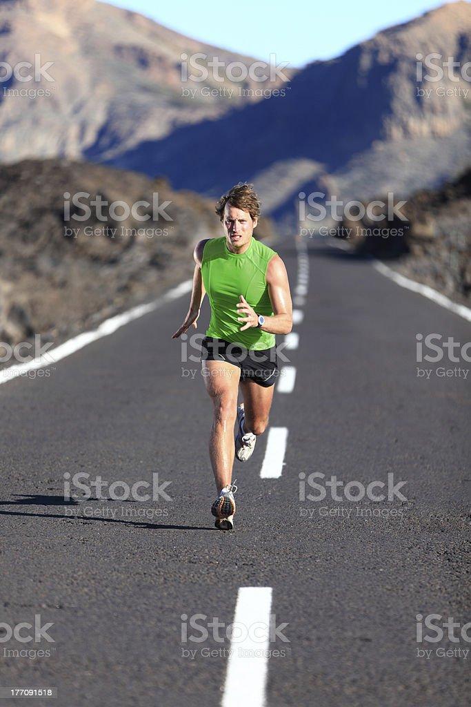 Running - male athlete runner stock photo