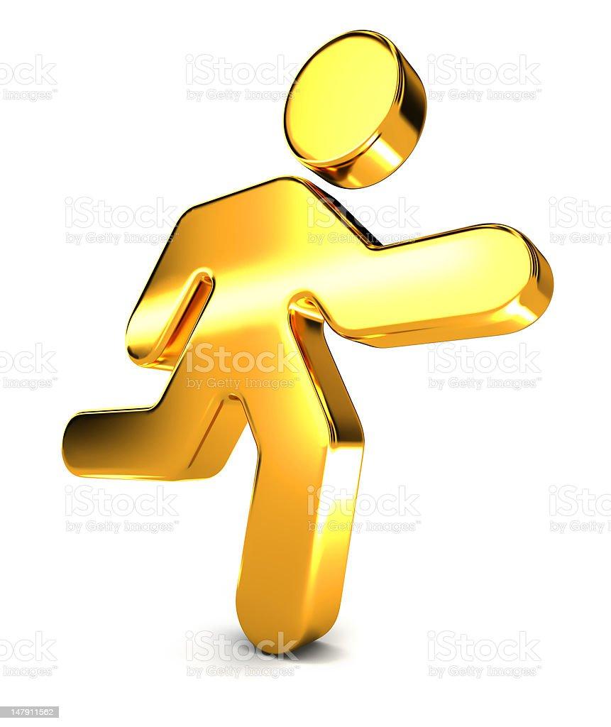 Running Man Icon royalty-free stock photo