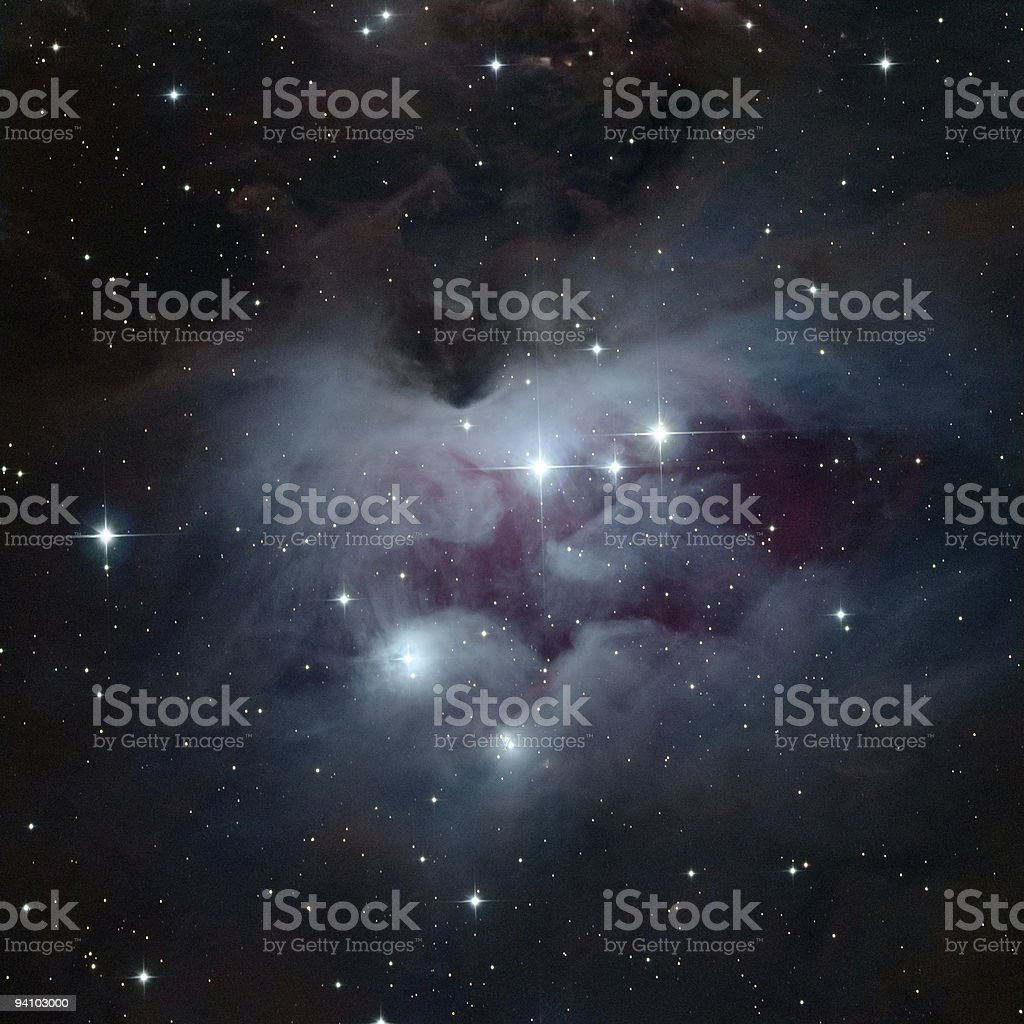Running Man Nebulae stock photo