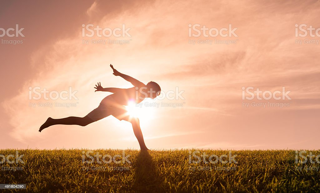 Running man stock photo