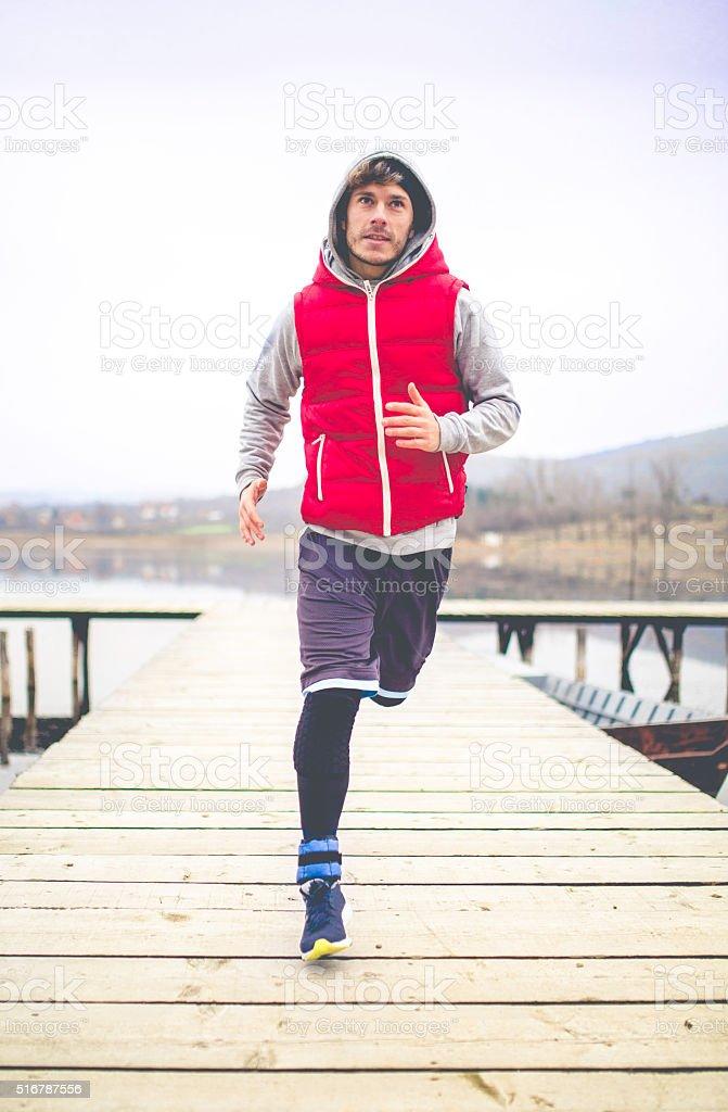 Running man. stock photo