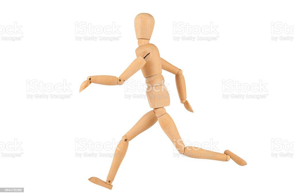 Running Manikin Figure isolated on White stock photo
