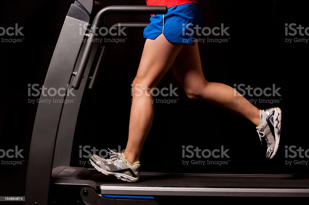 Running on a Treadmill royalty-free stock photo
