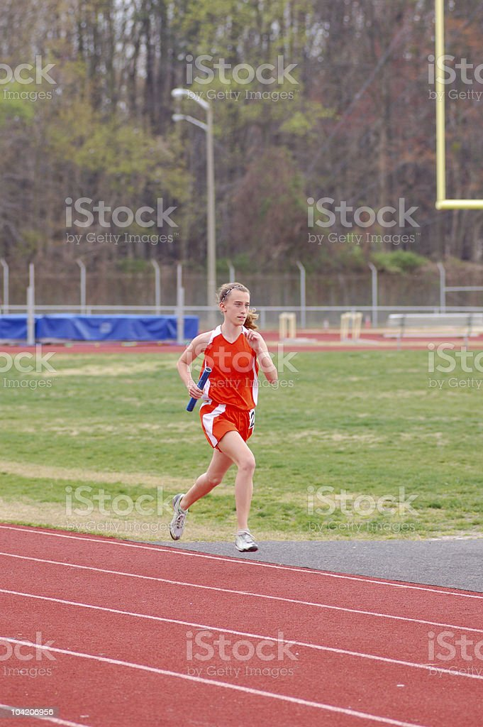 Running on air royalty-free stock photo