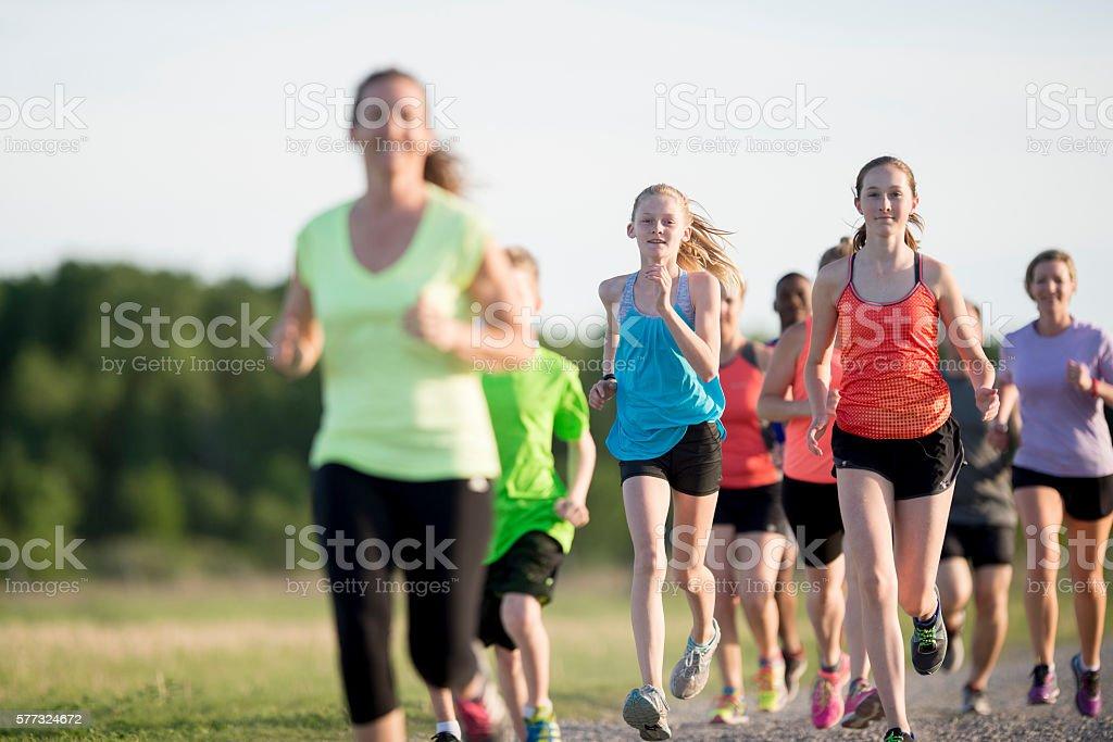 Running on an Outdoor Path stock photo