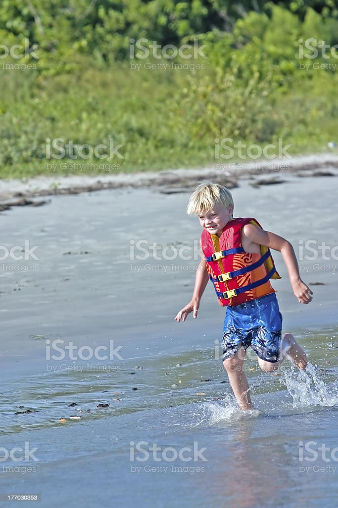 Running on Beach royalty-free stock photo