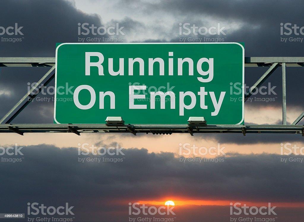Running On Empty stock photo