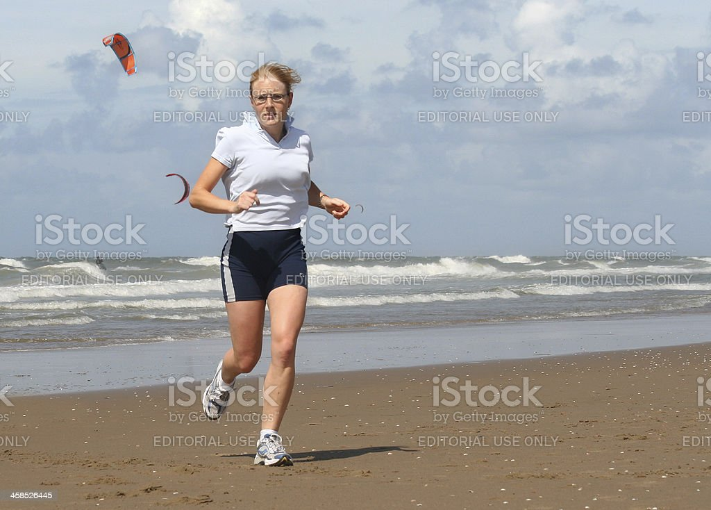 Running on the Beach royalty-free stock photo