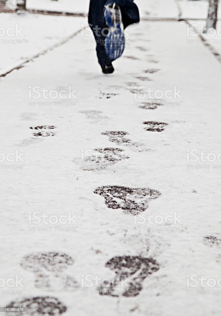 Running on the snow royalty-free stock photo