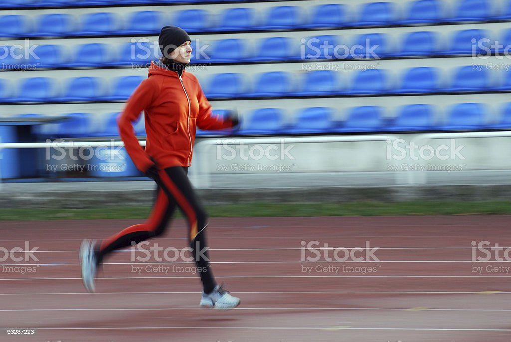 Running on the track royalty-free stock photo