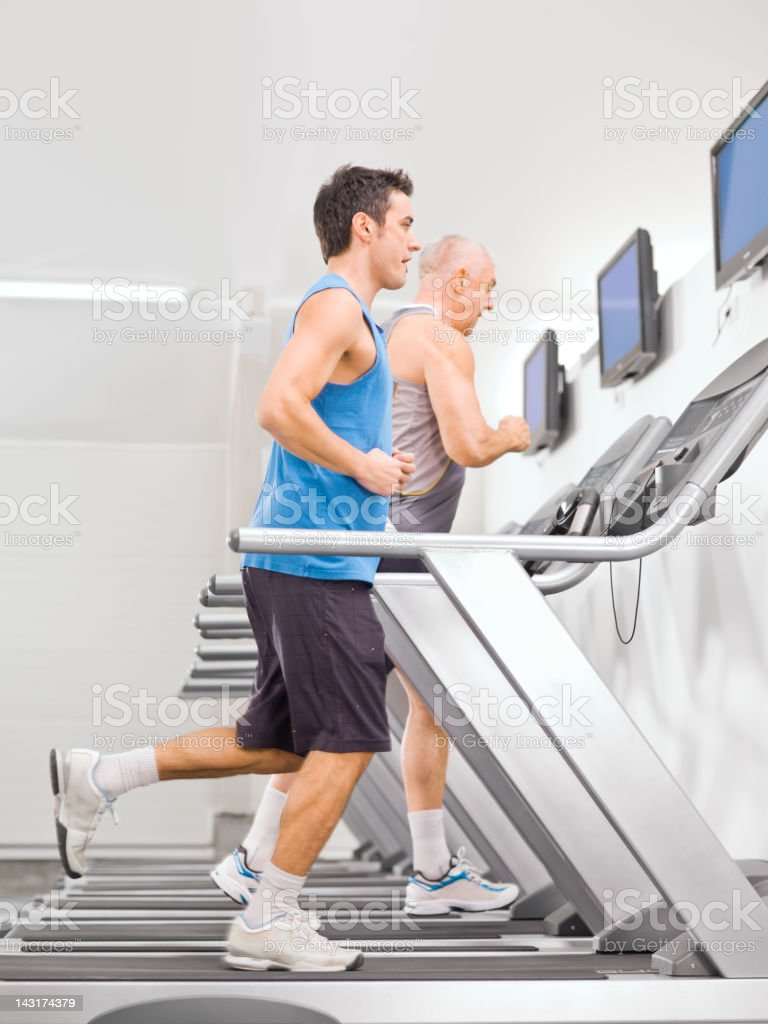 running on the treadmill for royalty-free stock photo