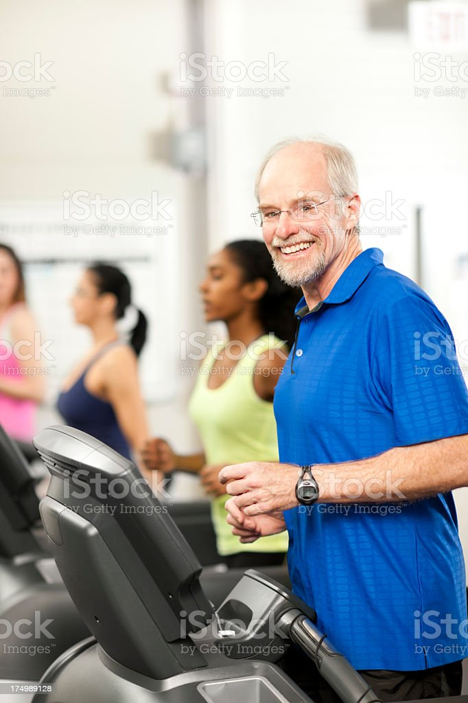 Running on the Treadmill royalty-free stock photo