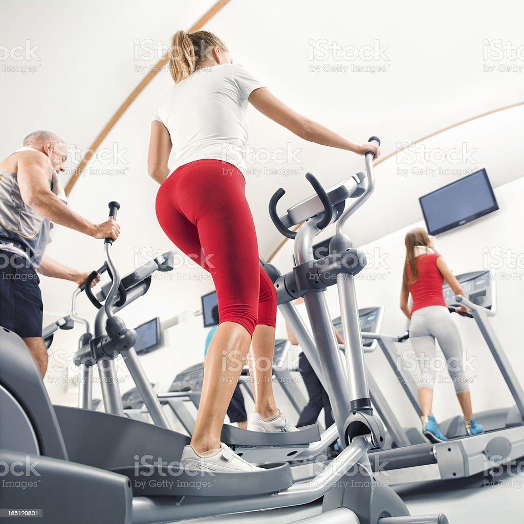 running on the treadmill royalty-free stock photo