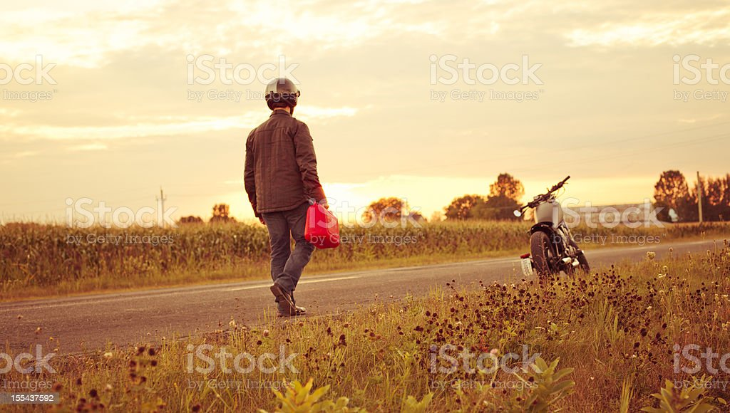 Running out of gas stock photo